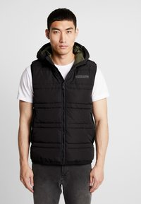 Scotch & Soda - CLASSIC HOODED QUILTED BODYWARMER - Chaleco - black - 0