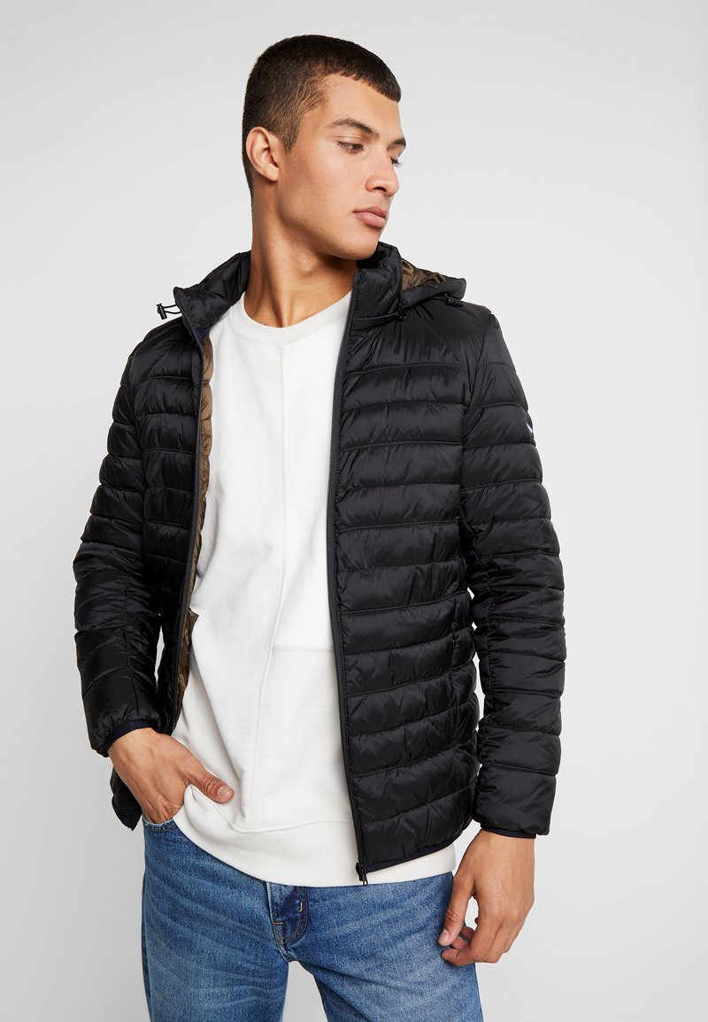 Scotch & Soda - CLASSIC HOODED LIGHT WEIGHT  - Jas - black