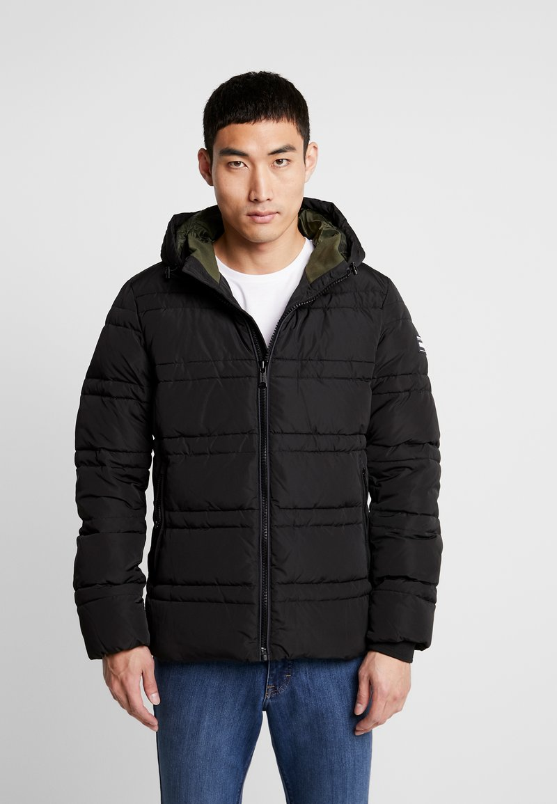 Scotch & Soda - CLASSIC HOODED PRIMALOFT JACKET - Vinterjacka - black