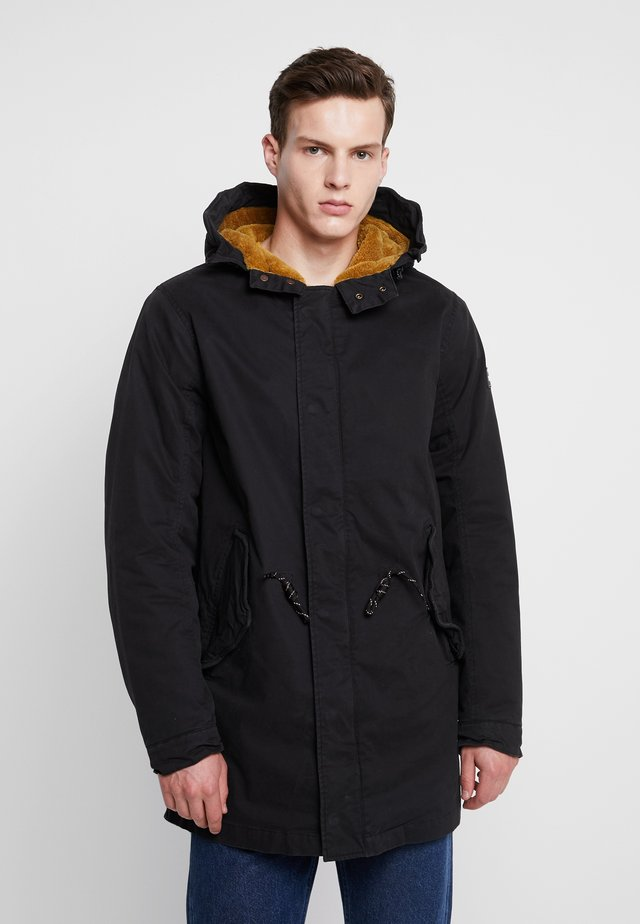 CLASSIC HOODED - Parka - black