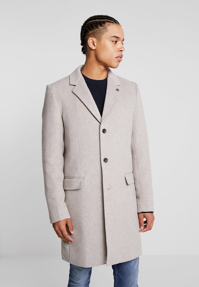 CLASSIC SINGLE BREASTED COAT - Cappotto classico - sand melange
