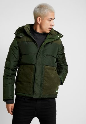 QUILTED JACKET WITH CONTRAST YOKE - Veste mi-saison - military