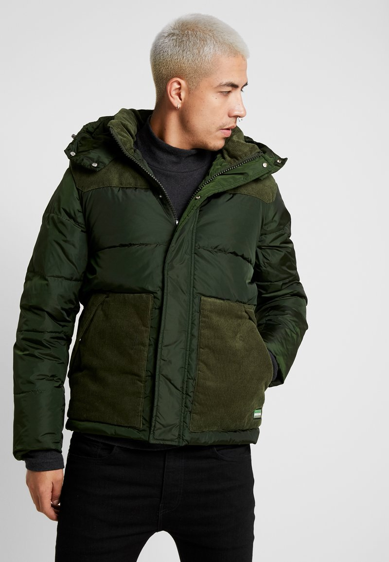 Scotch & Soda - QUILTED JACKET WITH CONTRAST YOKE - Light jacket - military