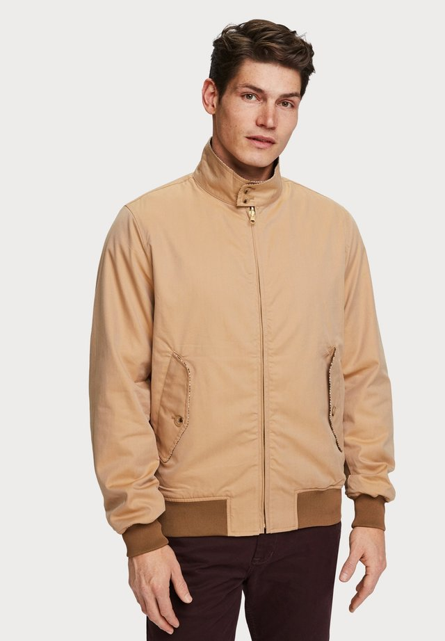 REVERSIBLE HARRINGTON JACKET - Bomberjacks - brown