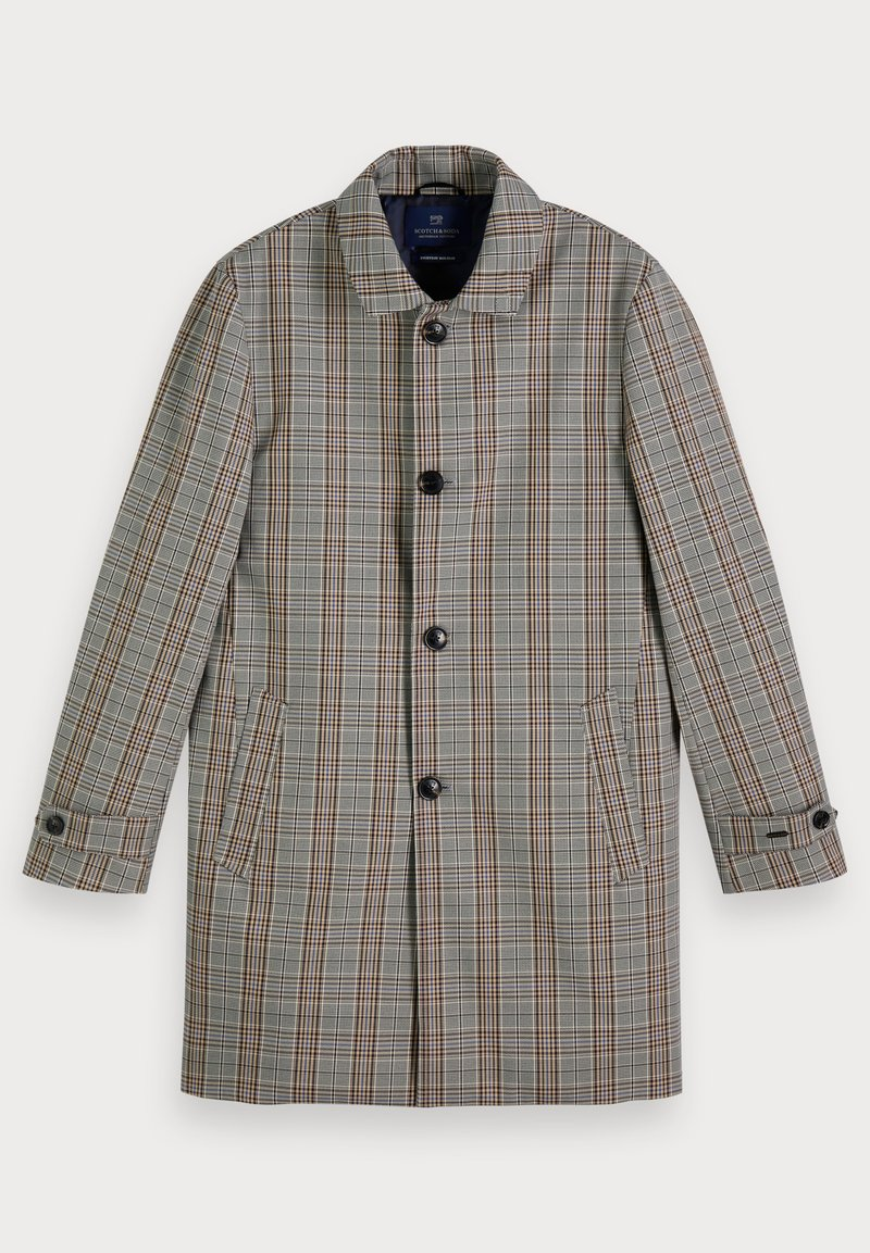 Scotch & Soda - PLAID - Trenchcoat - grey