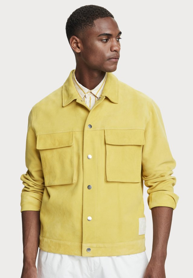 workwear - Leren jas - explorer yellow