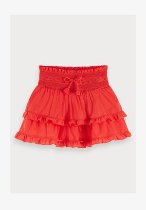 Mini skirt - flame red