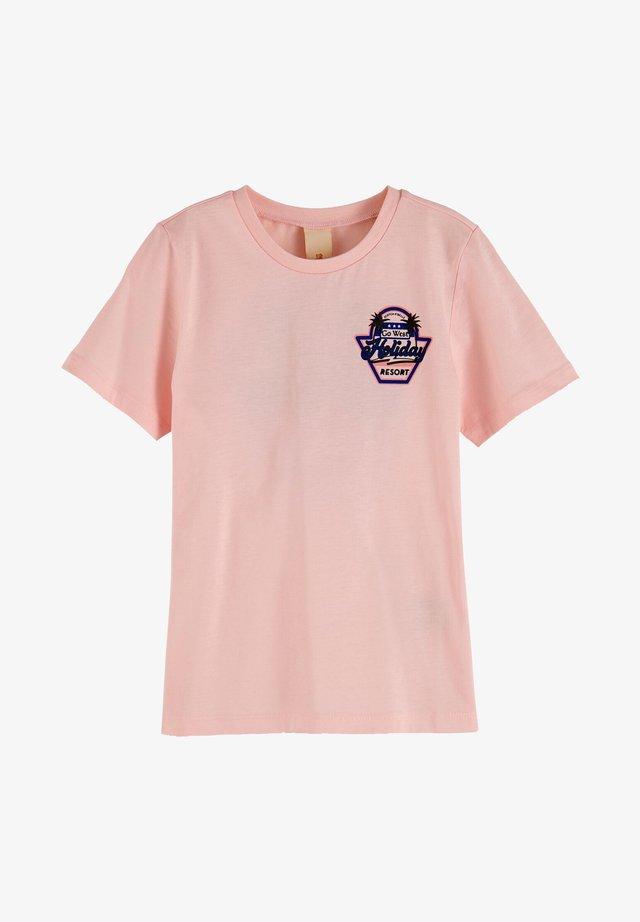 T-shirt print - dawn pink