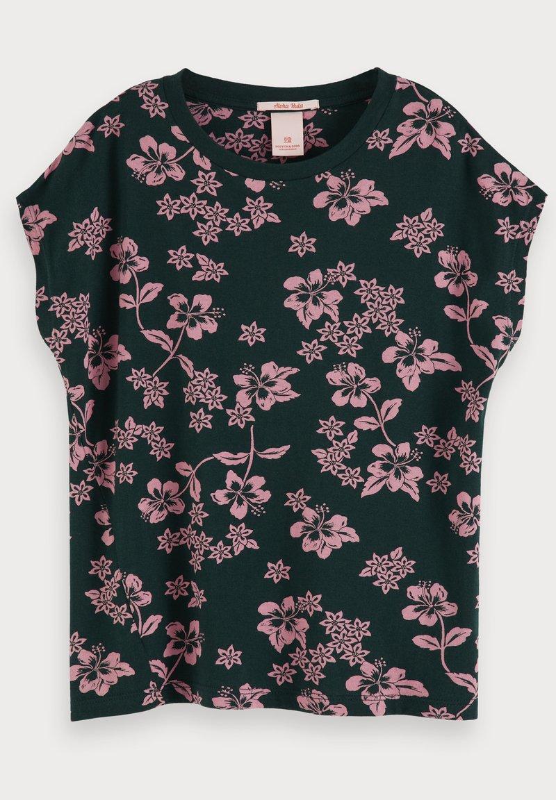 Scotch & Soda - HAWAIIAN  - Print T-shirt - pink