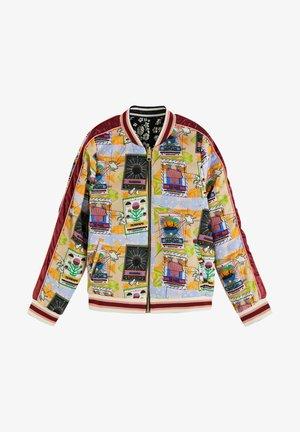 PRINTED REVERSIBLE BOMBER JACKET - Light jacket - red