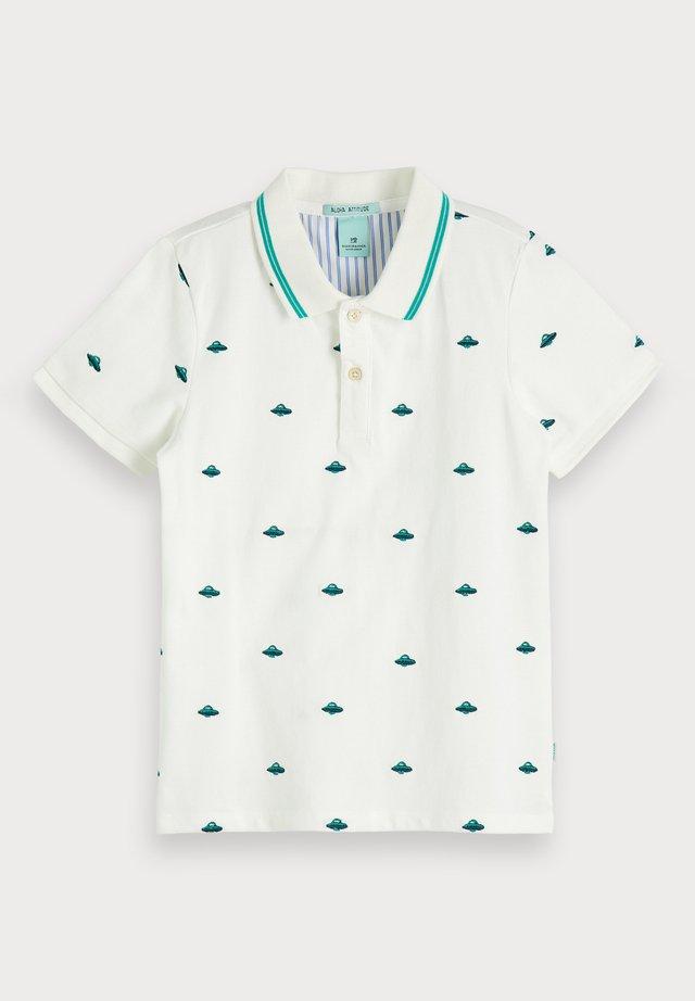 EMBROIDERED  - Poloshirt - white