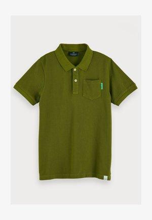 GARMENT DYED - Polo shirt - military green