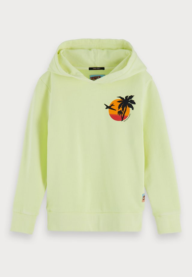 BRIGHT GARMENT DYED - Hoodie - neon lemonade