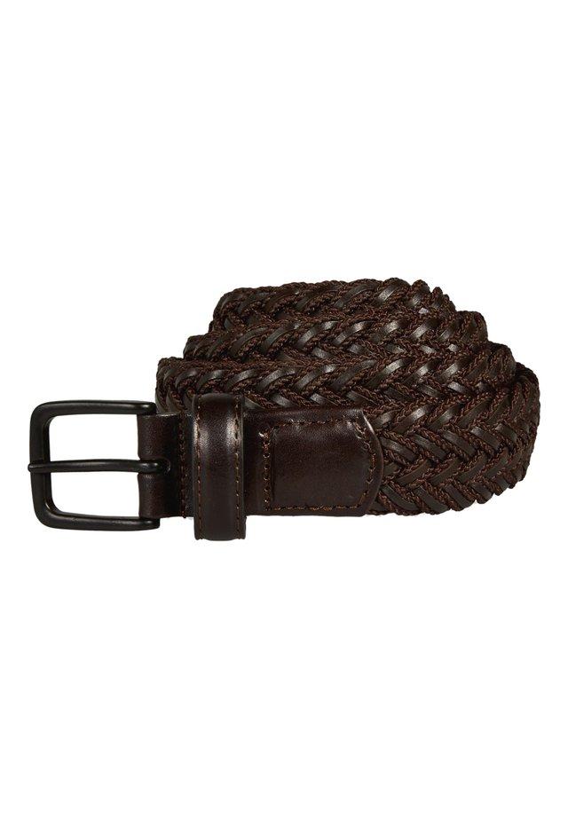 Braided belt - bordeaubergine