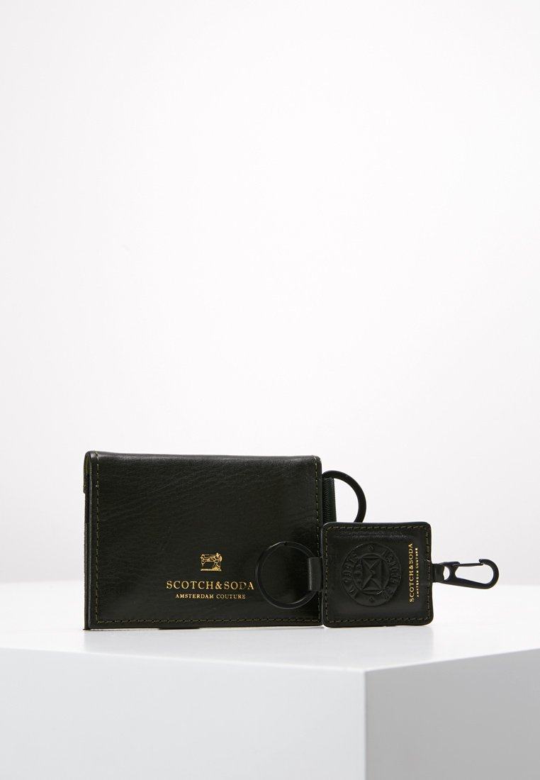 Scotch & Soda - GIFT BOX WITH FOLDED CARD WALLET AND KEY RING - Peněženka - combo