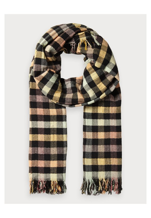 CHECKED HERRINGBONE - Scarf - multi-coloured