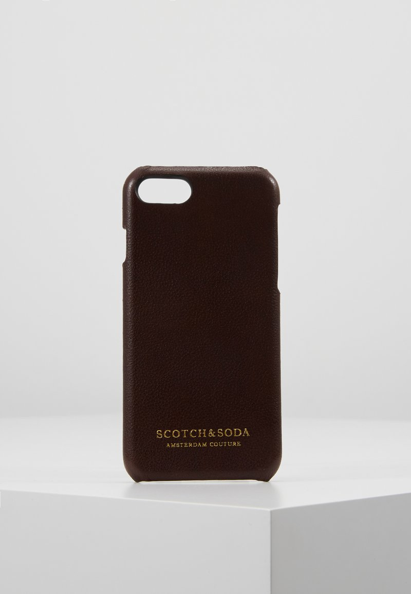 Scotch & Soda - CLASSIC COVERED IPHONE 8 CASE - Mobiltasker - brown
