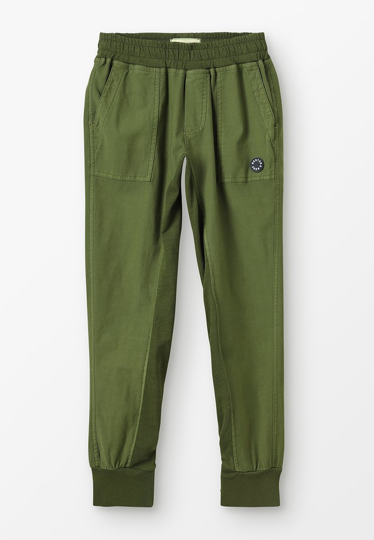Scotch & Soda - GARMENT DYED JOGGER WITH DETAIL - Trousers - military