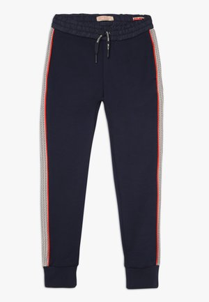 WITH CUT AND SEWN PANELS - Tracksuit bottoms - night