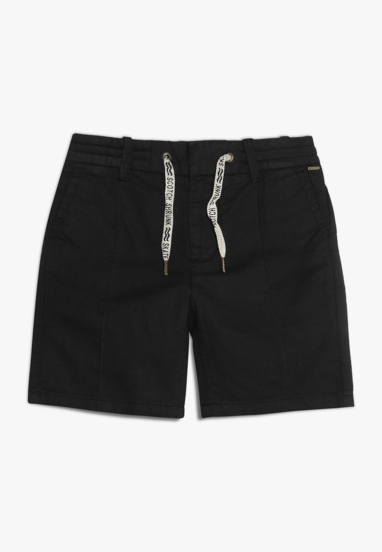 Scotch Shrunk - WITH ELASTICATED WAISTBAND AND PIN PLEAT - Shorts - black