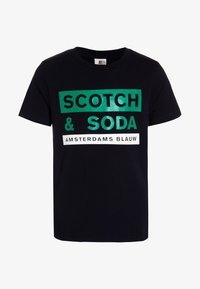 Scotch & Soda - REGULAR FIT SHORT SLEEVE TEE WITH ARTWORKS - T-shirt imprimé - blue summit - 0