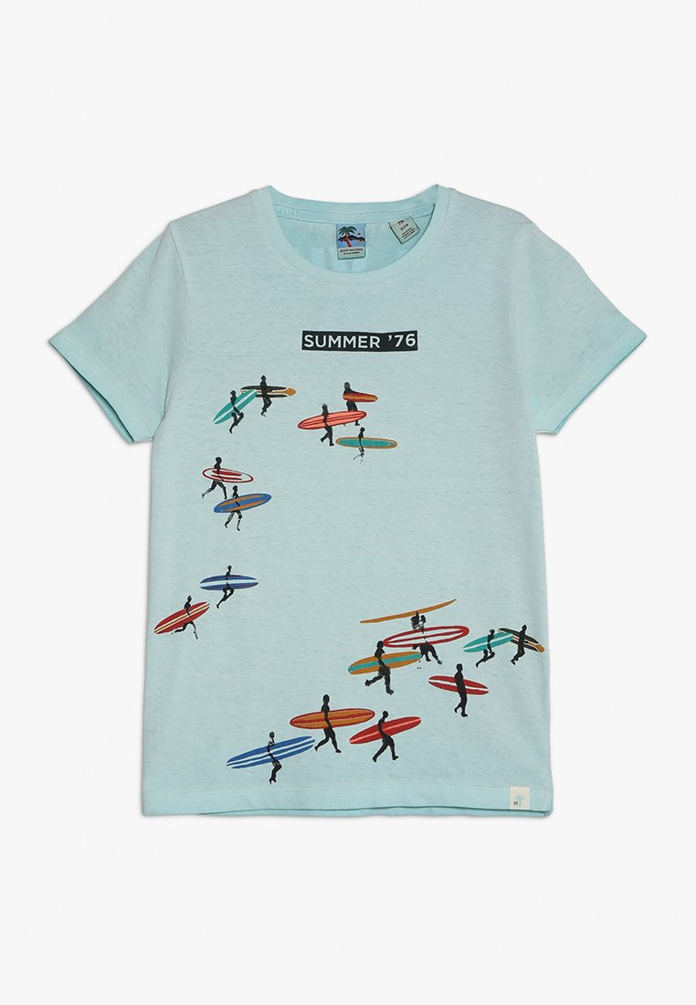 Scotch Shrunk - TEE WITH ARTWORKS AND WASHING - T-Shirt print - sky