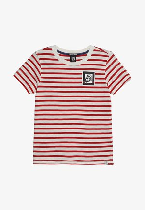 BRUTUS COLAB TEE WITH SMALL CHEST ARTWORK - Printtipaita - white/red