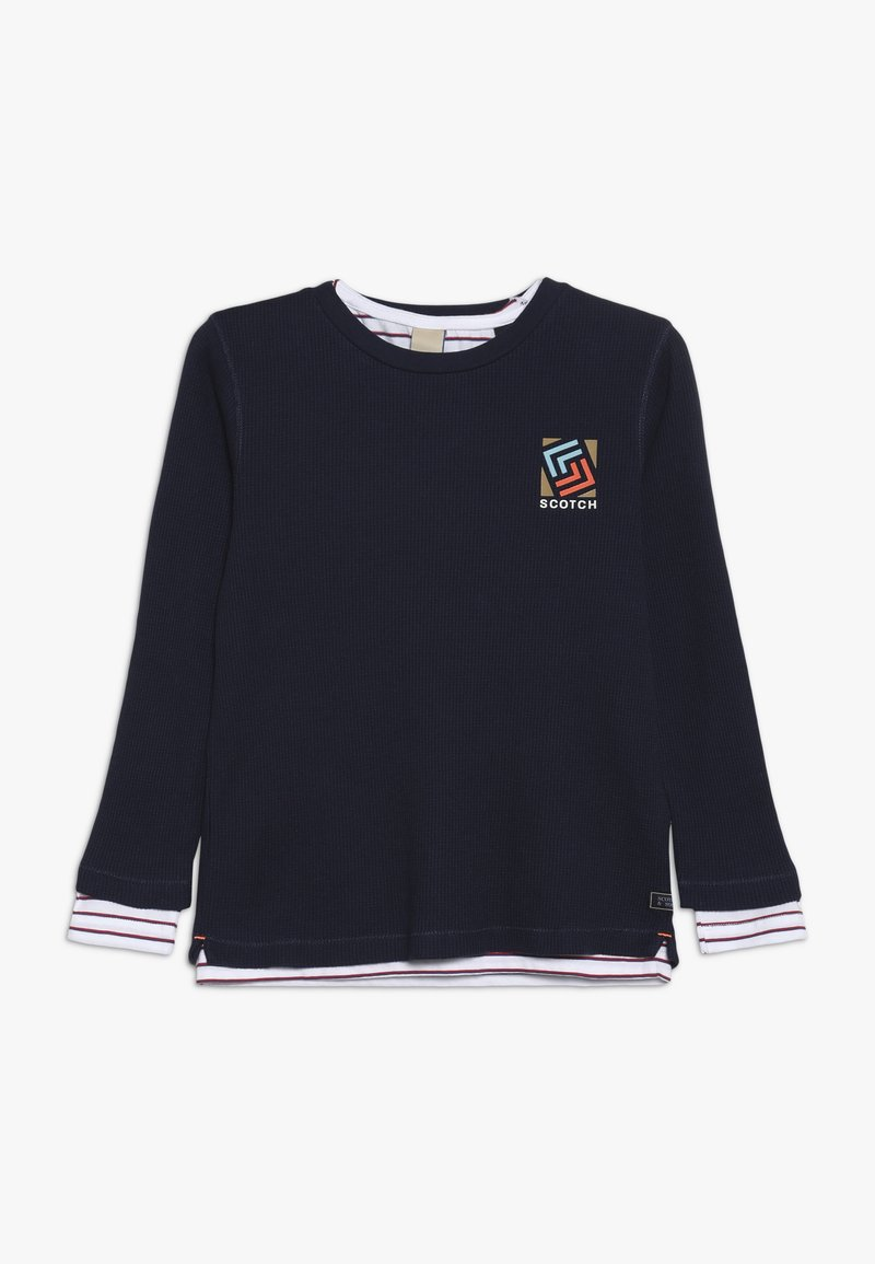 Scotch & Soda - DOUBLE LAYER LONG SLEEVE IN WAFFLE QUALITY 2-IN- - Langærmede T-shirts - night