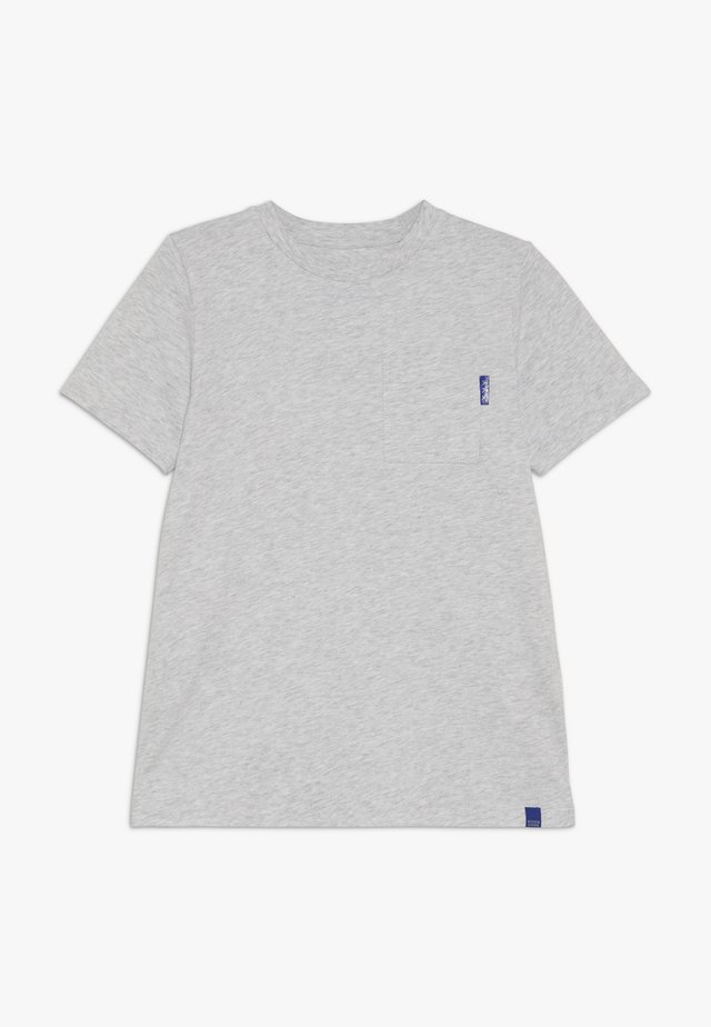 CLASSIC POCKET TEE - Basic T-shirt - grey melange