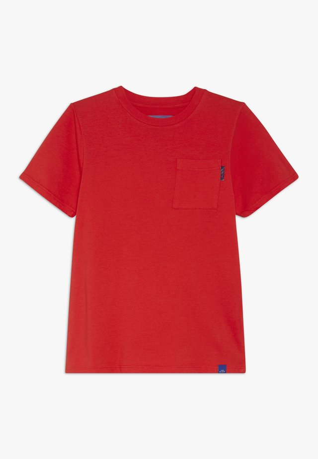 CLASSIC POCKET TEE - T-shirt basic - red clash
