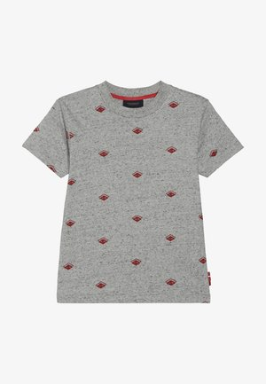 CREW NECK TEE WITH ALLOVER - Print T-shirt - grey