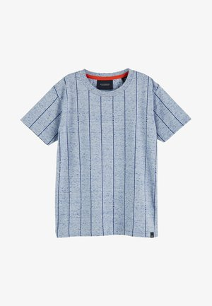 CREW NECK TEE WITH ALLOVER - Print T-shirt - blue