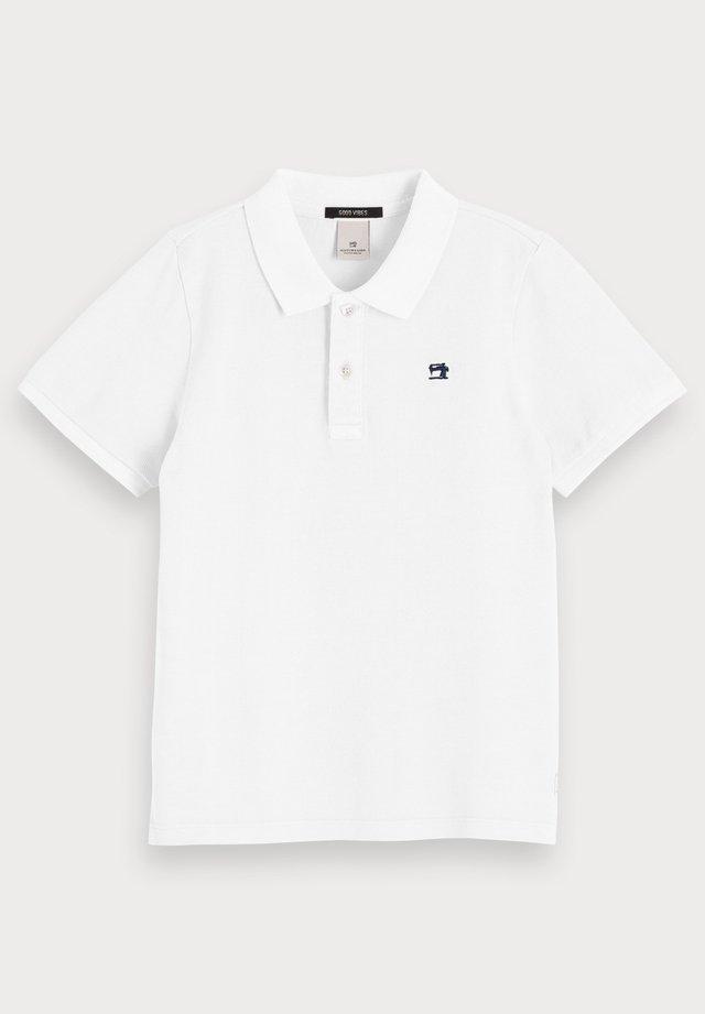 GARMENT DYED - Poloshirt - white
