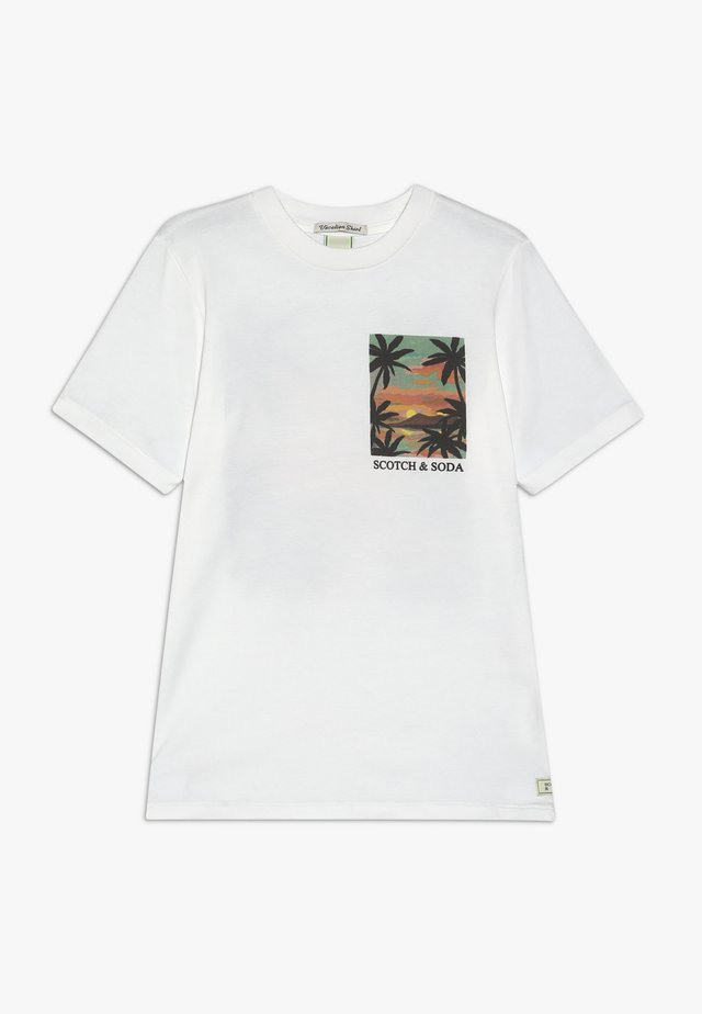 TEE WITH POSTCARD ARTWORK - T-shirt print - off white