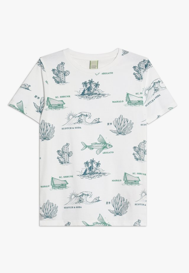 TEE WITH ALL OVER PRINT - T-shirts print - white