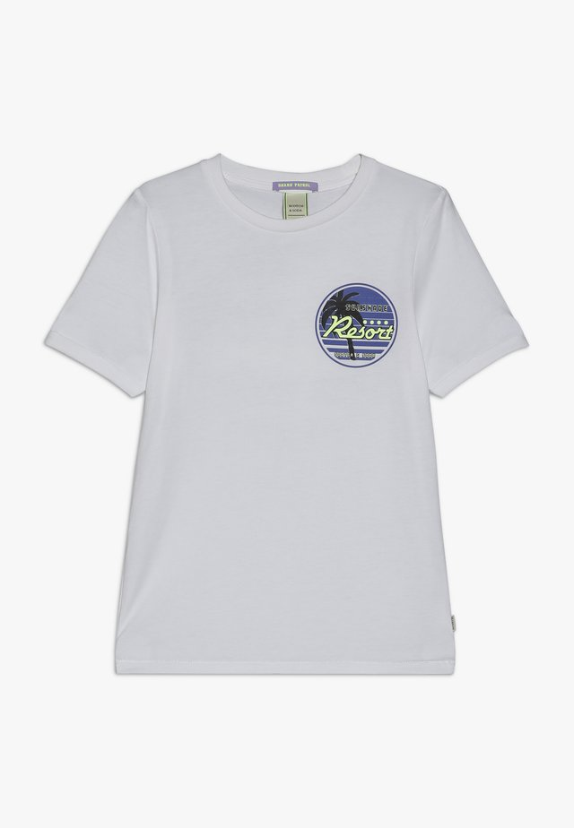 TEE WITH COLOURFUL ARTWORK - Print T-shirt - white