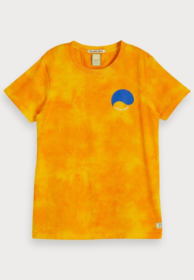 TIE DYE AND ARTWORKS - T-shirt print - golden glow