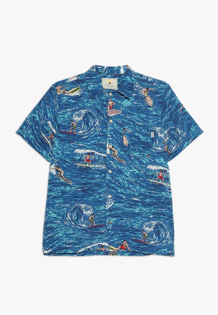 Scotch Shrunk - ALLOVER PRINTED BOXY FIT SHORT SLEEVE - Koszula - blue