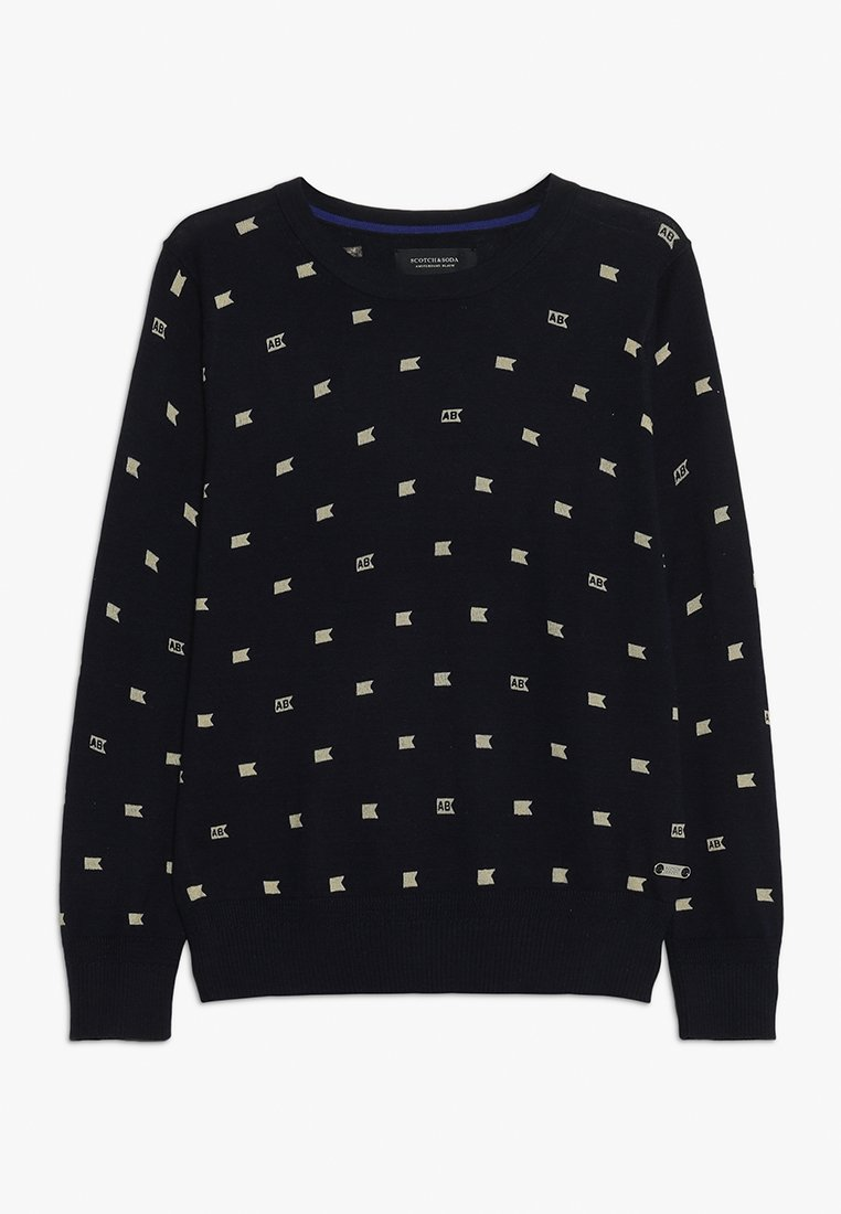 Scotch Shrunk - ALLOVER PRINTED CREW NECK - Pullover - dark blue