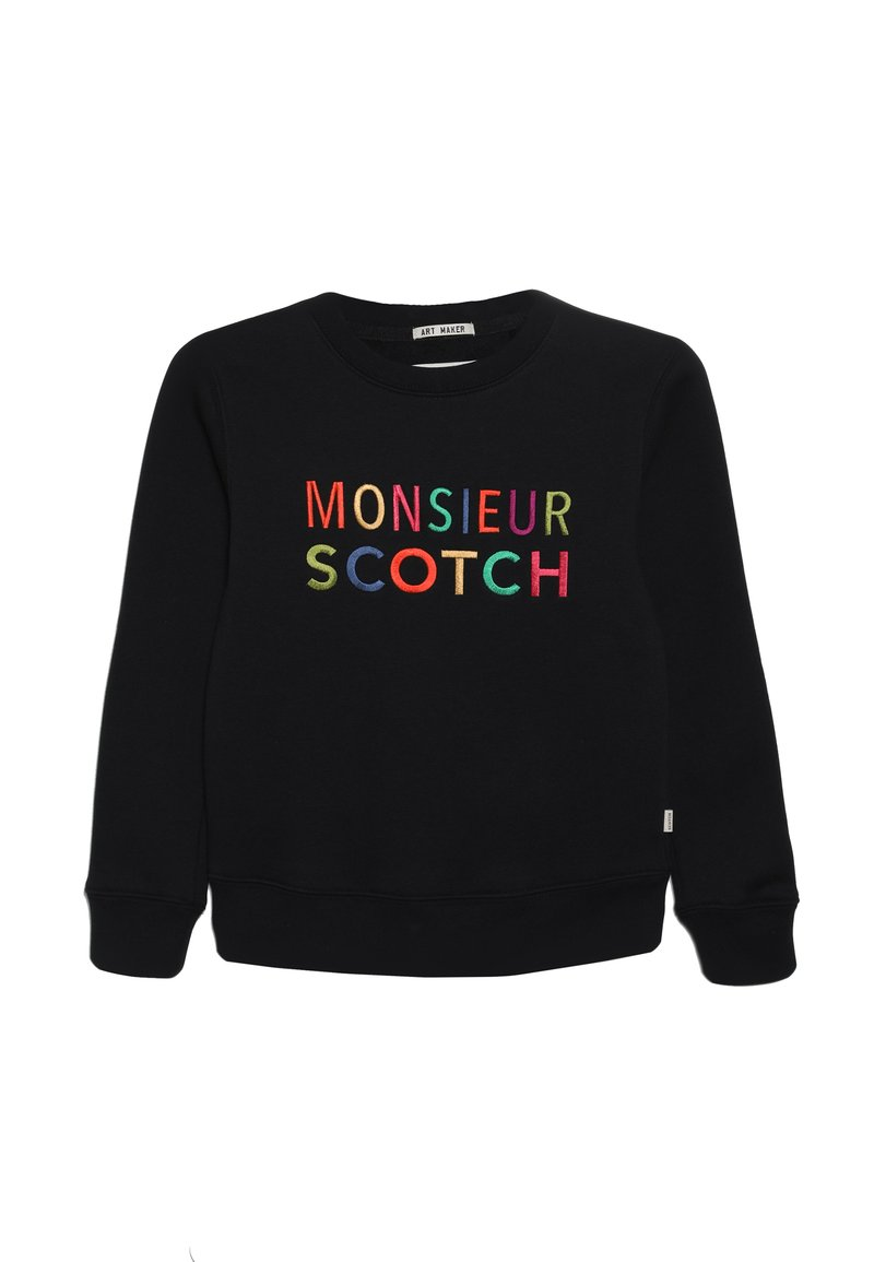 Scotch & Soda - CREWNECK WITH LOGO ARTWORK - Sweatshirt - black