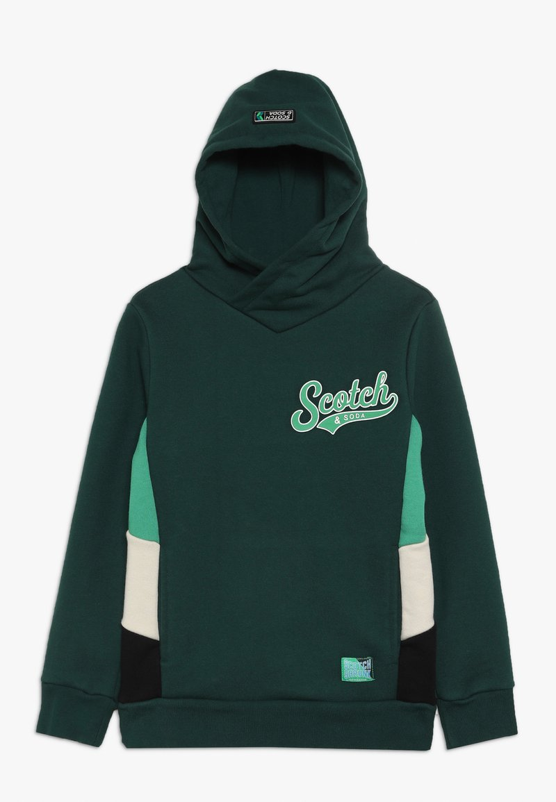 Scotch & Soda - HOODY WITH CONTRAST CUT AND SEWN SIDE PANEL  - Hoodie - bottle green