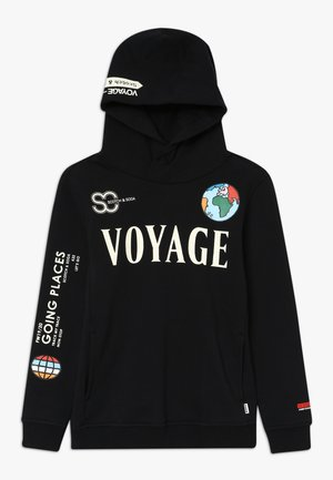 HOODY WITH PLACED ARTWORKS - Sweat à capuche - black