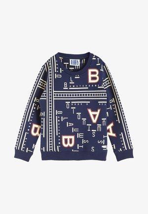 ALL OVERPRINTED CREWNECK - Sweater - blue