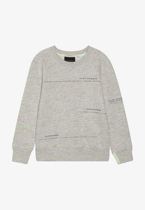 CLUB NOMADE BASIC CREW WITH ARTWORKS - Sweatshirt - light grey melange