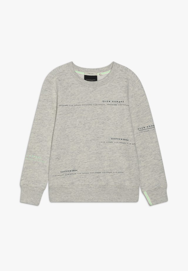 CLUB NOMADE BASIC CREW WITH ARTWORKS - Sweater - light grey melange