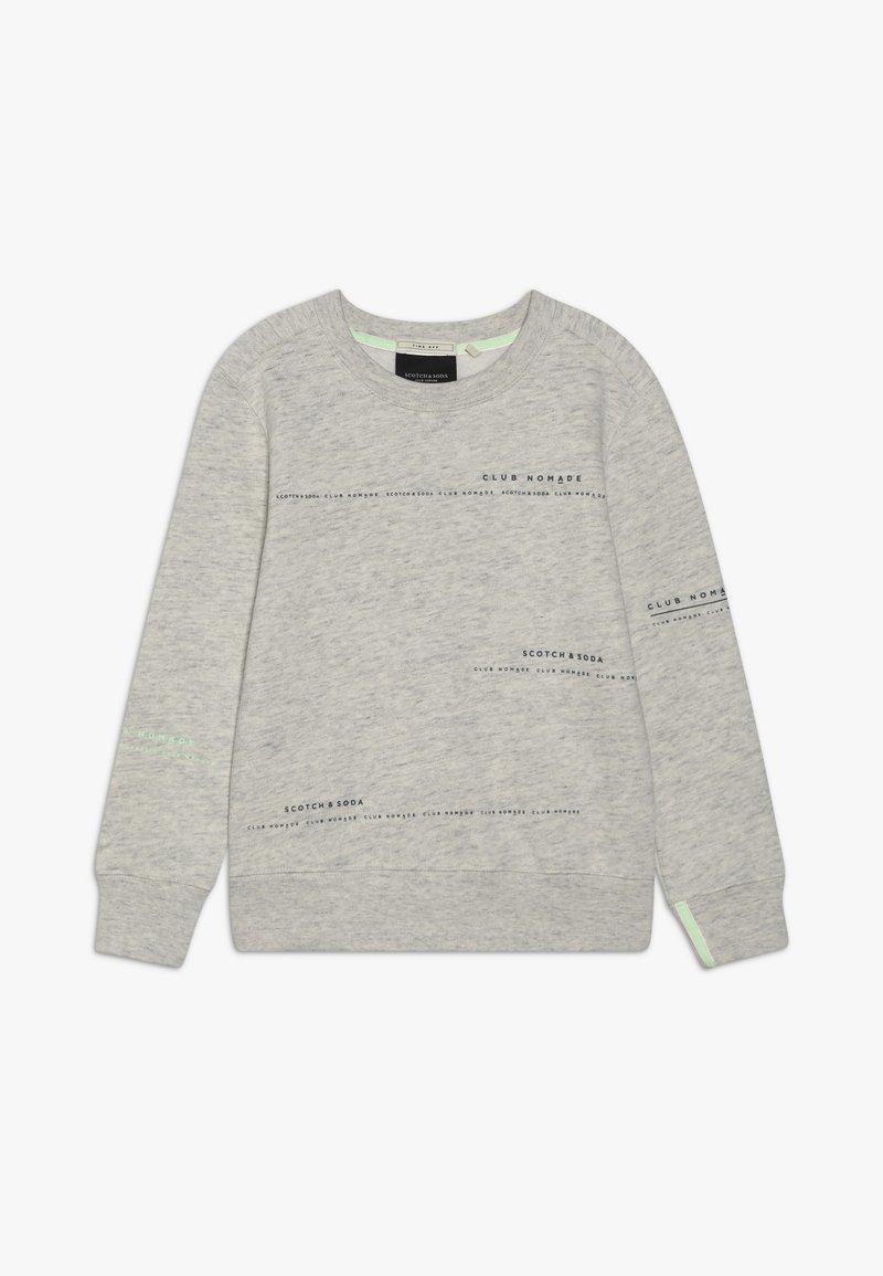 Scotch & Soda - CLUB NOMADE BASIC CREW WITH ARTWORKS - Sweatshirt - light grey melange
