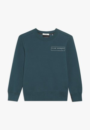 CLUB NOMADE BASIC CREW WITH ARTWORKS - Sweater - teal green