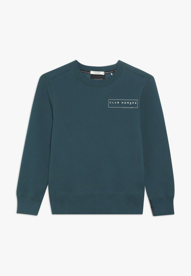 CLUB NOMADE BASIC CREW WITH ARTWORKS - Mikina - teal green