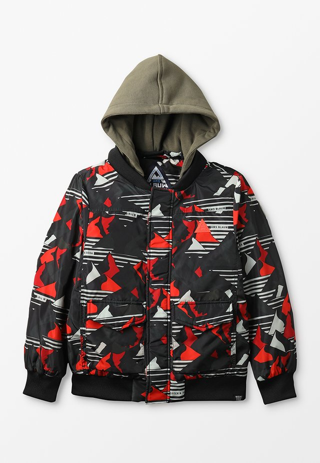 BOMBER JACKET WITH ALL OVER PRINT AND HOOD - Giacca da mezza stagione - combo