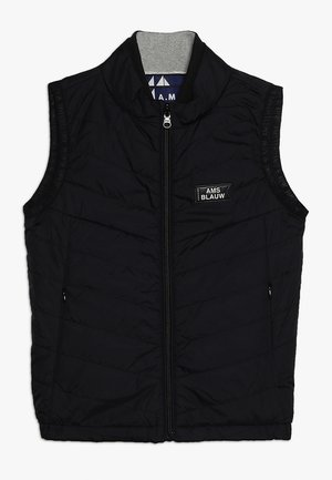 QUILTED REVERSIBLE BODY WARMER - Bodywarmer - black